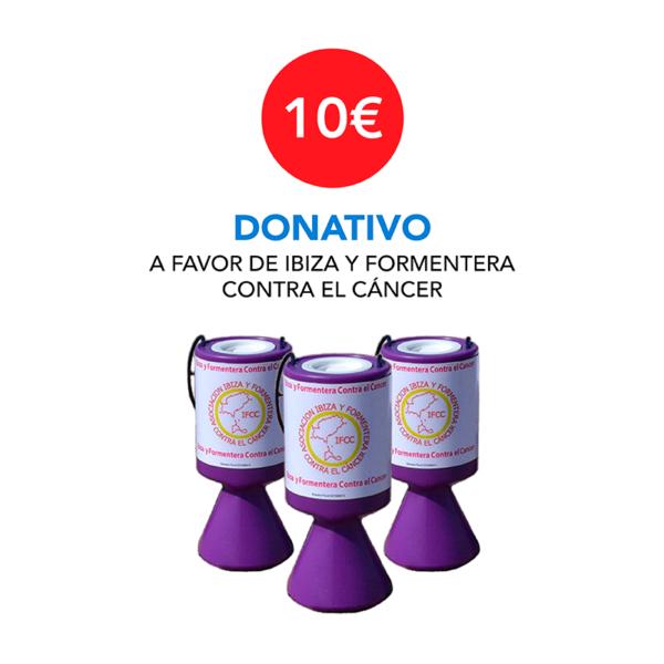 Donativo 10 € - Ibiza y Formentera Contra el Cáncer