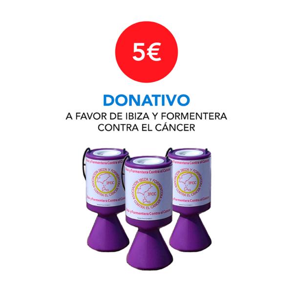 Donativo 5 € - Ibiza y Formentera Contra el Cáncer